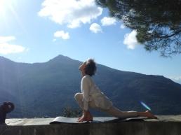 posture de yoga cap corse