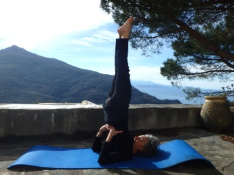 la chandelle, posture yoga, barrettali, cap corse