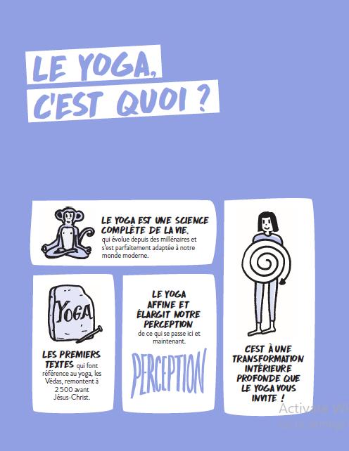 """le yoga c'est quoi? """" Yoga, zéro blabla"""", Editions Marabout, Dominique Casaux"""