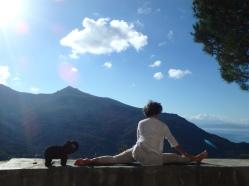 Hanumasana, grand écart, yoga, corse