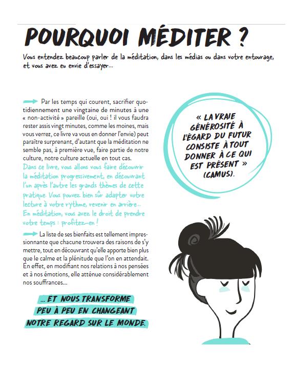 Pourquoi méditer? Zéro blabla méditation de Dominique Casaux, aux Editions Marabout